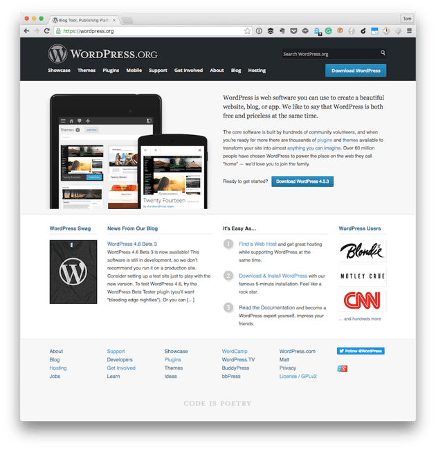 The WordPress Project Homepage