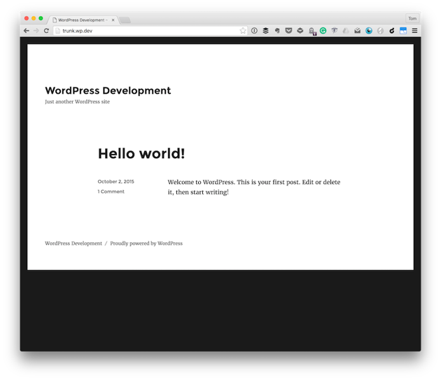 The most recent copy of WordPress installed via Subversion