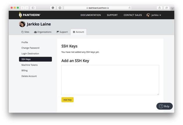 Add an SSH Key