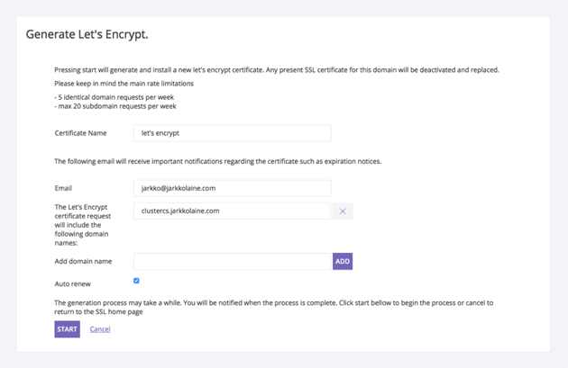 Generate Lets Encrypt Certificate
