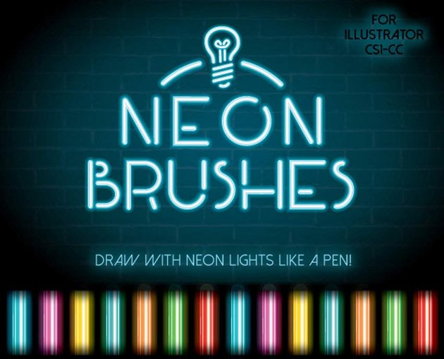 Neon Illustrator Brushes