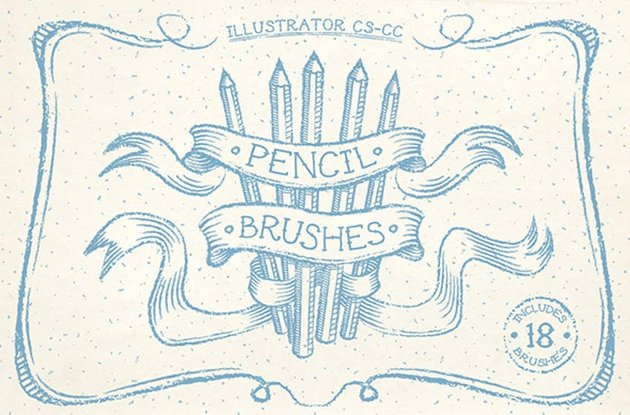 Pencil Illustrator Brushes