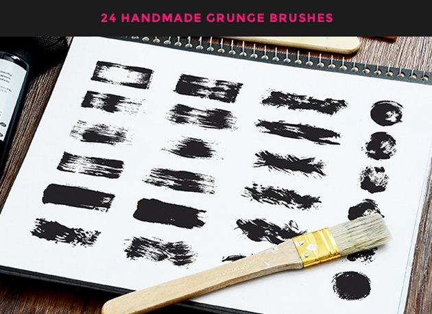 Fat Grunge  Illustrator Brush Pack