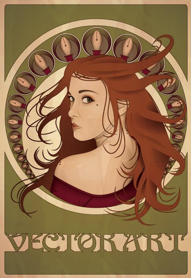 Art Nouveau Poster Adobe Illustrator Tutorial