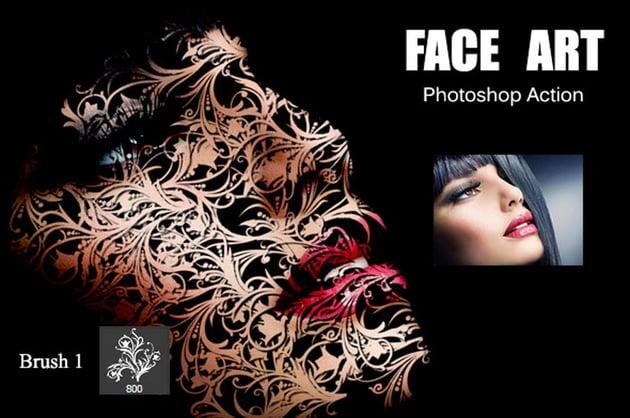 Face Art Photoshop Action