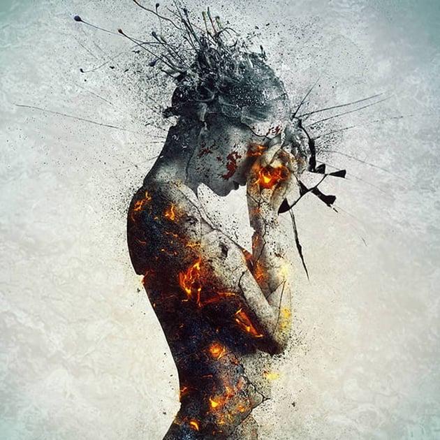 Emotional Molten Statue Photo Manipulation Tutorial