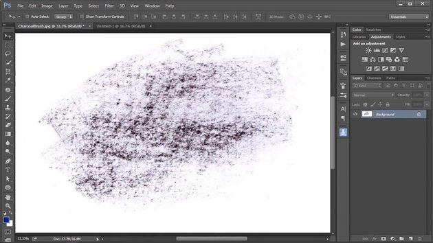 Create a Brush from a Charoal Rubbing
