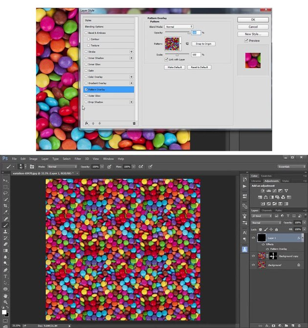 Define Pattern to Create a Seamless Tile