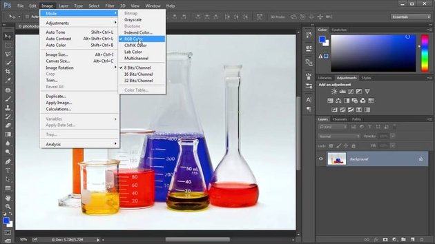 RGB Color Mode in Adobe Photoshop