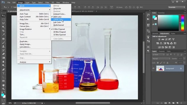 CMYK Color Mode in Adobe Photoshop