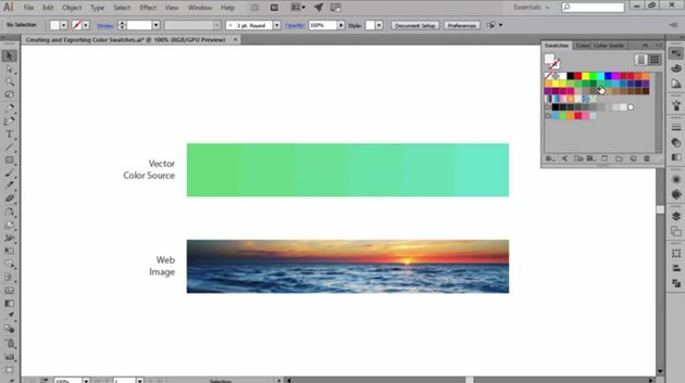Default Color Swatches in Adobe Illustrator