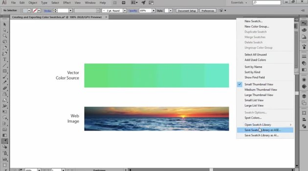 How to Export Your Swatches in Adobe Illustrator