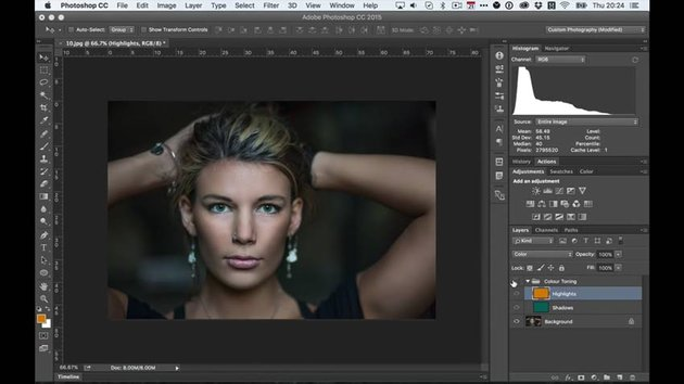 Setting Up Layer Blend Modes for Blend If
