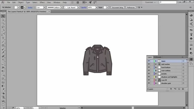 The Layers Panel in Adobe Illustrator