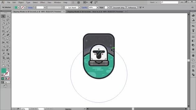 Clipping Masks in Adobe Illustrator