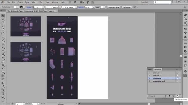 Deleting an Artboard in Adobe Illustrator