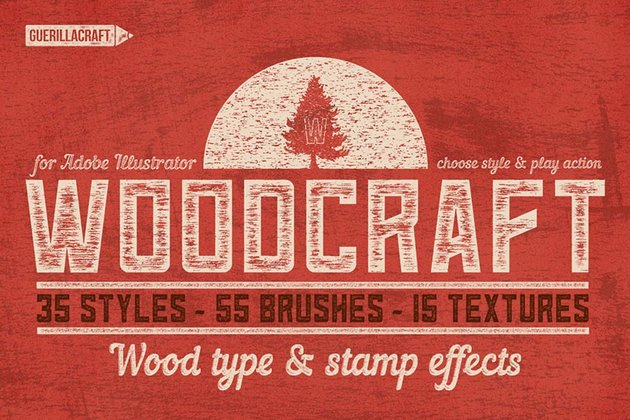 Woodcraft Action for Adobe Illustrator