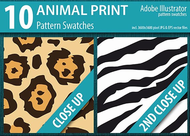 10 Animal Print Pattern Swatches