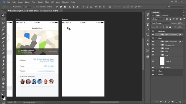Moving Content to Artboards with the Layers Panel