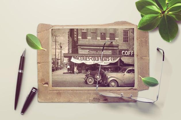 vintage photo mockup