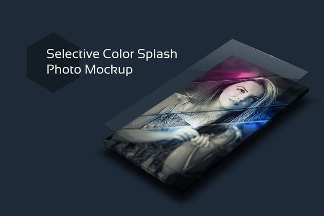 color splash photo template