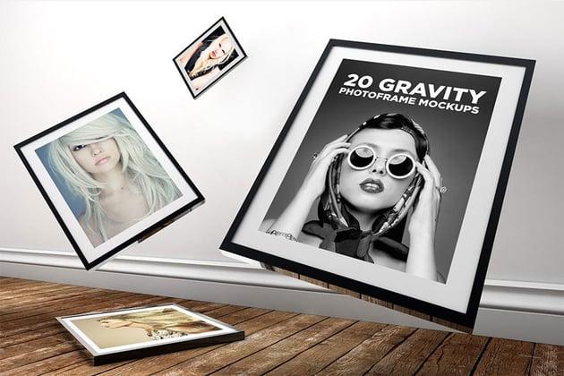 Gravity Photo Template