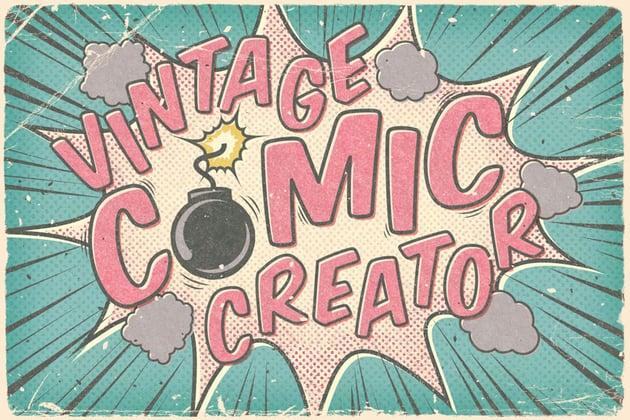 Vintage Comic Creator Template
