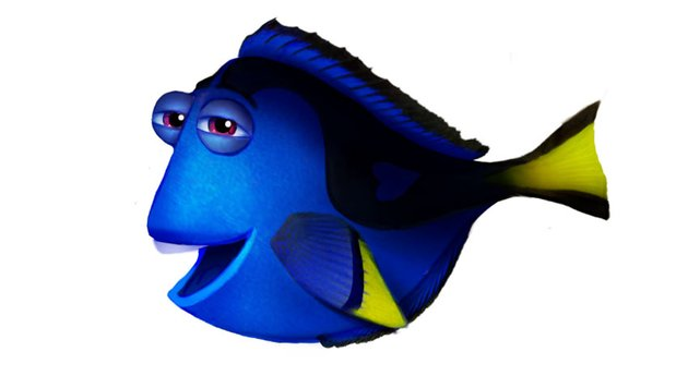 Painting Highlights on Finding Nemos Dory