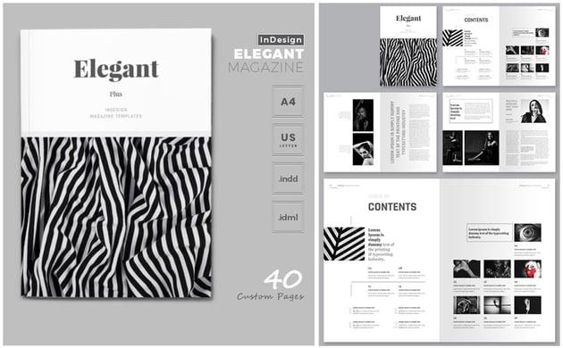 Elegant Magazine Template
