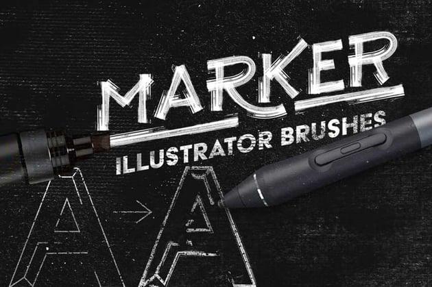 Marker Adobe Illustrator Brushes