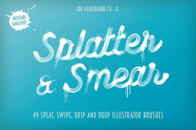 Splatter Smear Illustrator Brushes