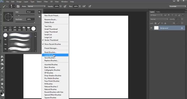 Loading Custom Brushes in Adobe Photoshop