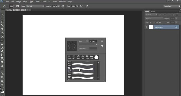 Accessing Custom Photoshop Brushes with the Brush Palette