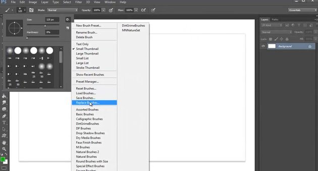 Replacing Brushes with Custom Ones in Photoshop