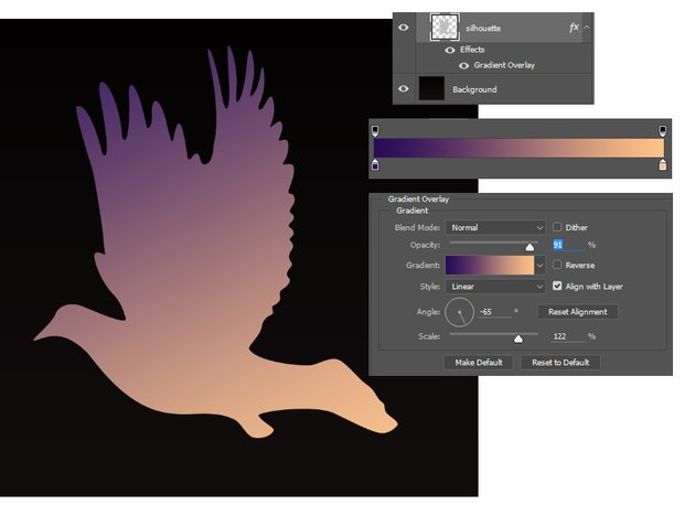 Fill the Silhouette with a Gradient Overlay
