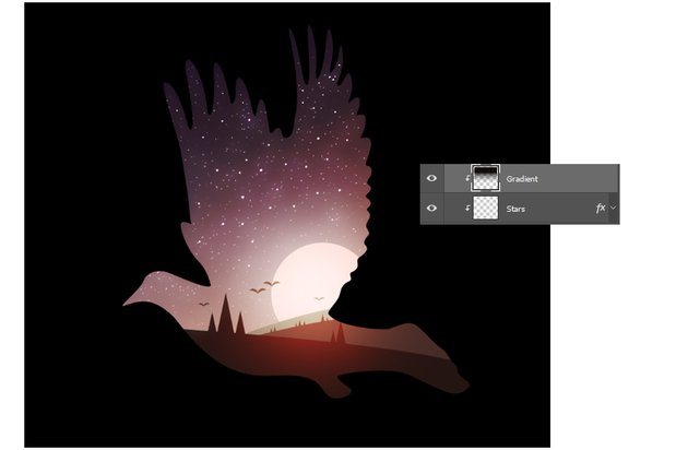 Add Darkness with the Gradient Tool