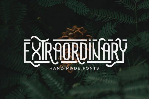 Extraordinary Sans Serif Font