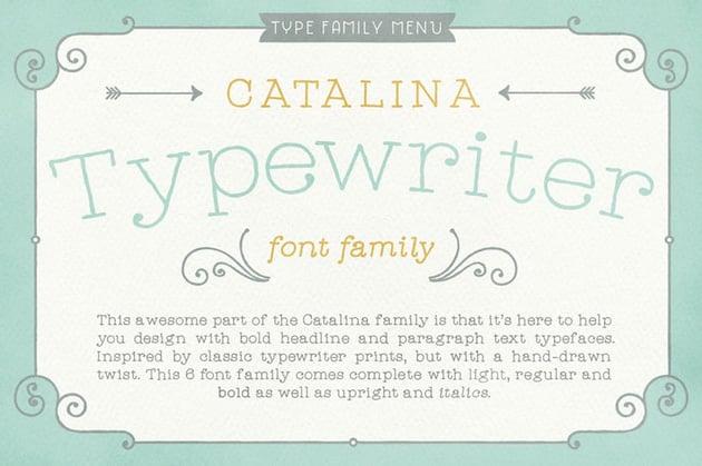 Catalina Typewriter Best Decorative Fonts