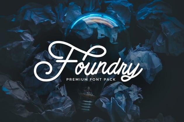 Foundry Fancy Script Font