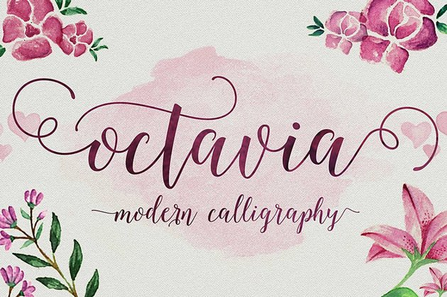 Octavia Fancy Script Font