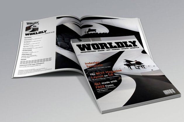 Wordly Magazine Indesign Template