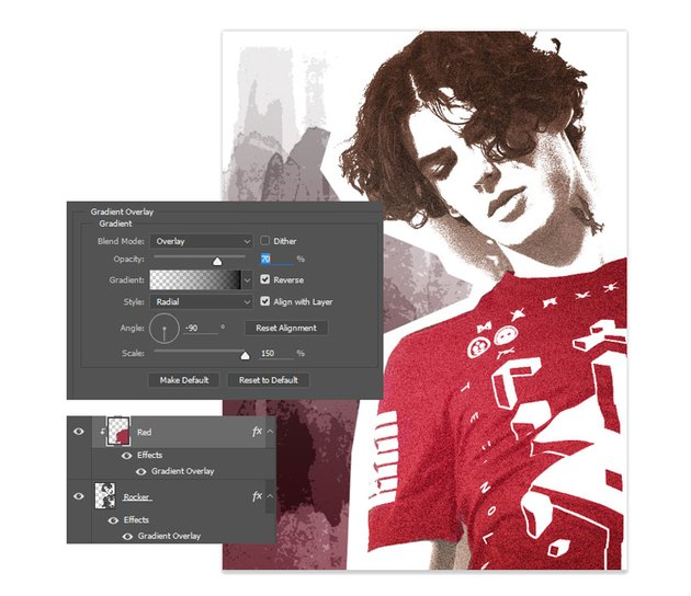 Create a Linear Gradient Overlay for Better Coloring