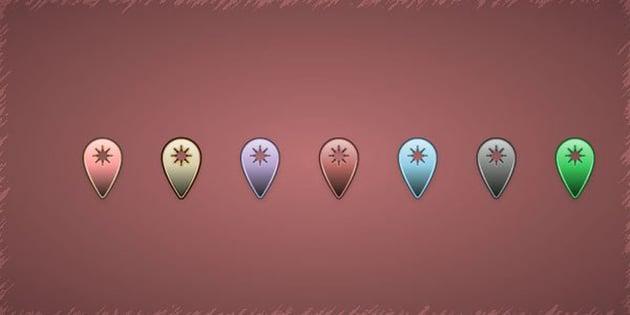 Map Pin Set by Butu