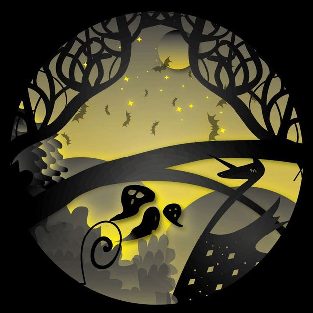 Illustrator Paper Cut Out Scene by Chris Huwer