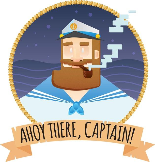 Vector Sea Captain Portrait by Peachybones