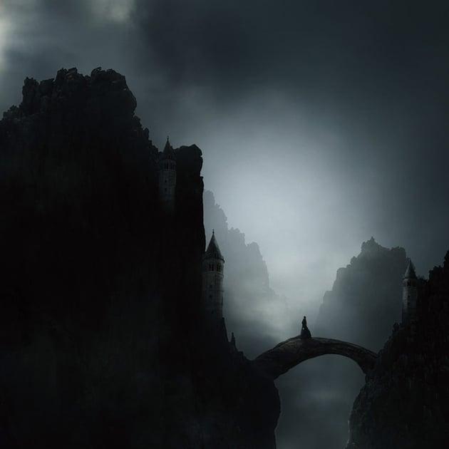 Misty Landscape Photo Manipulation by Anil Viji