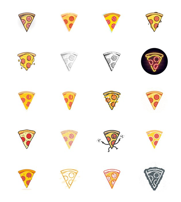 52 Pizza Slice Project Art by Gustavo Zambelli