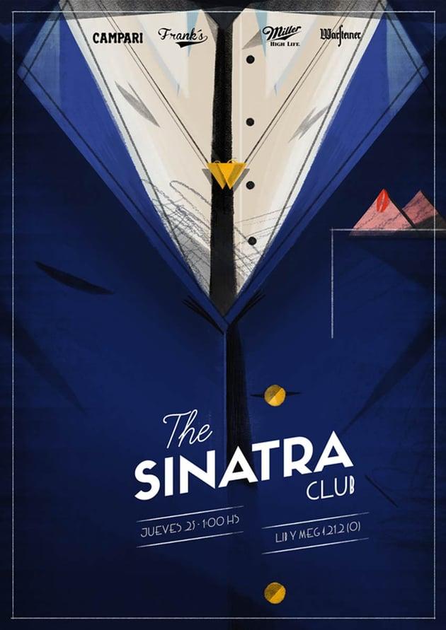 The Sinatra Club Poster Art by Santiago Oddis