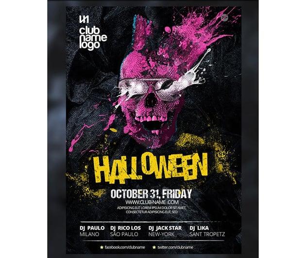 Skull Halloween Party Template
