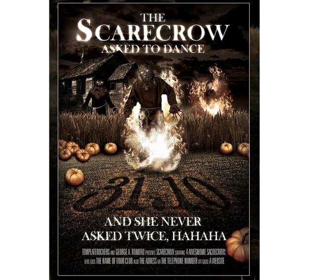 Scary Scarecrow Halloween Flyer